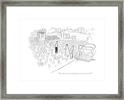 We Have More Framed Print by  Alain