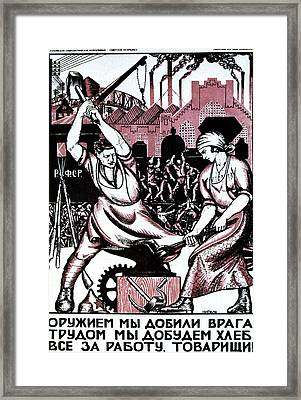 We Have Smashed Our Enemies With The Force Of Arms Framed Print by Nicolai Kogout