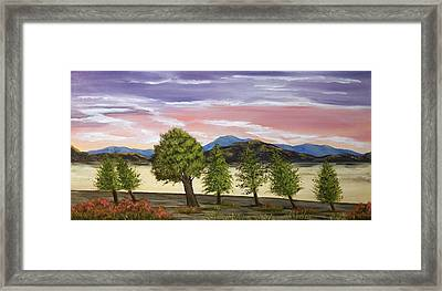 Framed Print featuring the painting We Learn To Bend To The Wind by Susan Culver