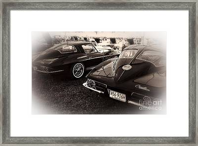 We Love Corvettes  Framed Print