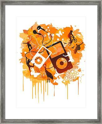 We Love Da Tech Framed Print by Adz Akin