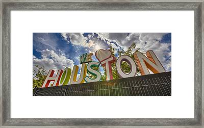 We Love Houston Framed Print