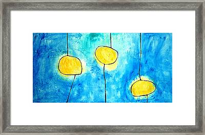 We Make A Family - Abstract Art By Sharon Cummings Framed Print by Sharon Cummings