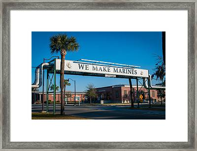 We Make Marines Framed Print by Roger Clifford