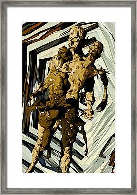 Framed Print featuring the digital art we by Matt Lindley
