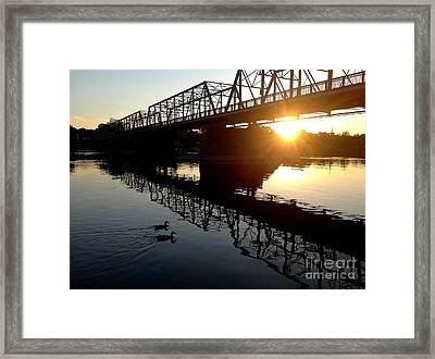 We Move Into The Light - 3 Framed Print