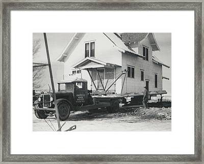 Framed Print featuring the photograph We Moved by Paul Ashby Antique Image