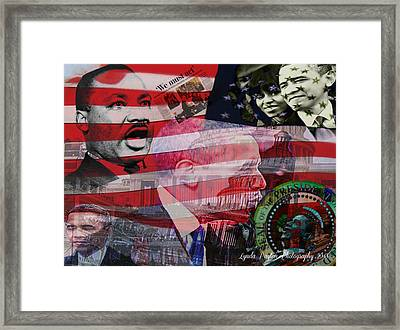 We Must Act Framed Print by Lynda Payton