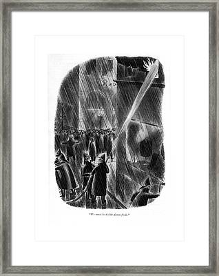 We Must Look Like Damn Fools Framed Print by Richard Taylor