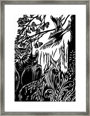 We The Creatures Framed Print by Ingrid  Schmelter
