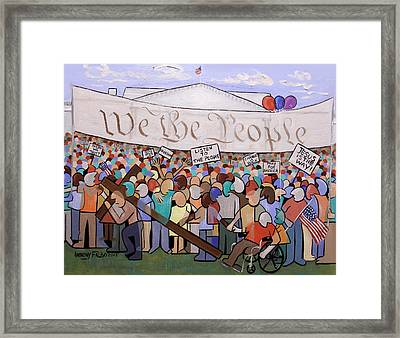 We The People Framed Print by Anthony Falbo