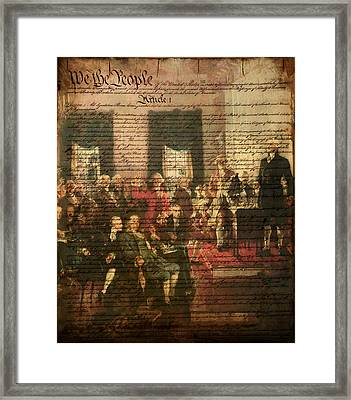 We The People Framed Print by Bill Cannon