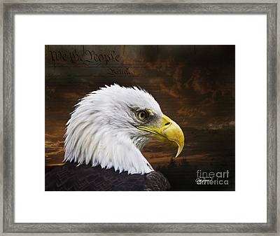 We The People Framed Print by Cris Hayes