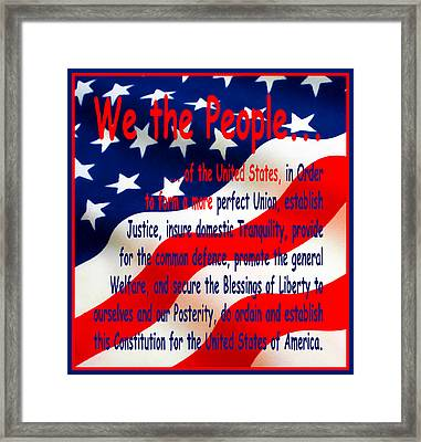 We The People Framed Print by Floyd Snyder