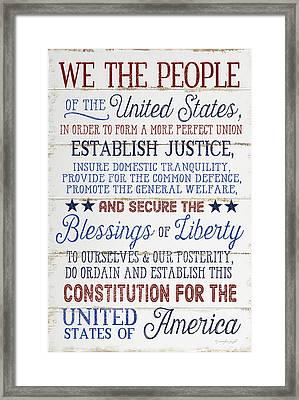 We The People Framed Print by Jennifer Pugh