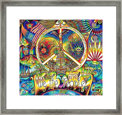 We The People Framed Print by Jonathan 'DiNo' DiNapoli