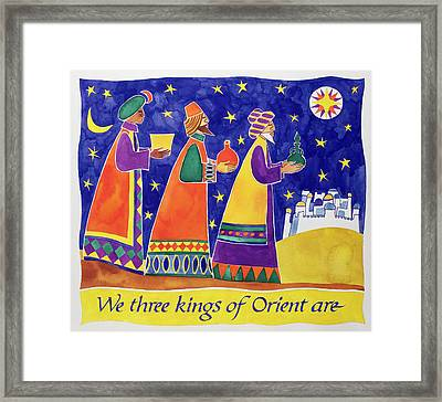 We Three Kings Of Orient Are Framed Print by Cathy Baxter