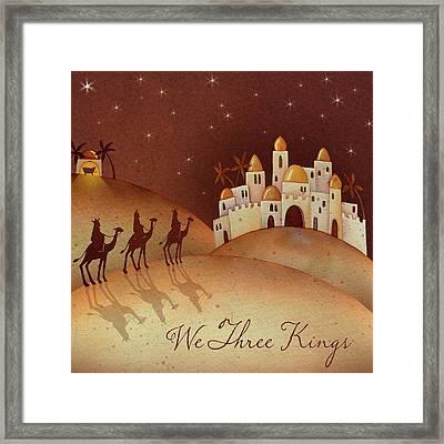 We Three Kings Framed Print by P.s. Art Studios