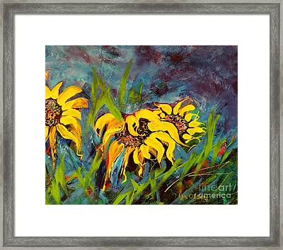 We Three Framed Print by Lyn Olsen