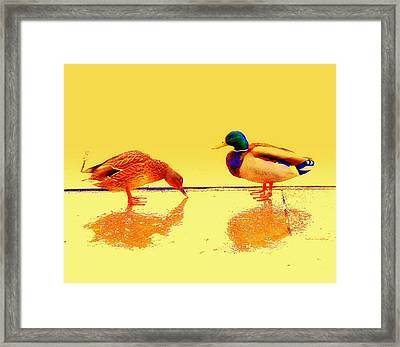 We Walk The Line But Where Does It Lead Us Framed Print by Hilde Widerberg