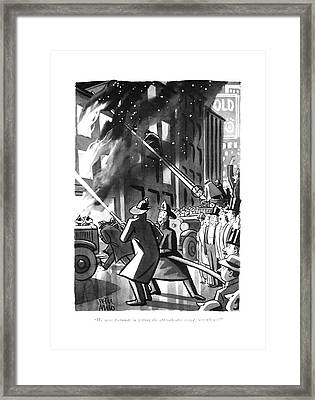 We Were Fortunate In Getting The After-theatre Framed Print
