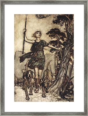 We Will, Fair Queen Framed Print by Arthur Rackham