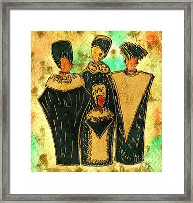 We Women 4 - Suede Version Framed Print by Angela L Walker