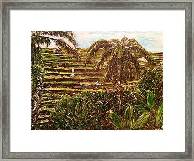 We Work Hard For The Money Framed Print by Belinda Low
