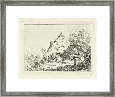 Weagon For A Farm, Carel Lodewijk Hansen Framed Print