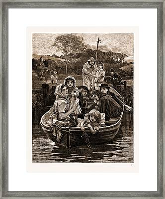 Weal And Woe, From The Painting By Charles Gregory Framed Print by Litz Collection