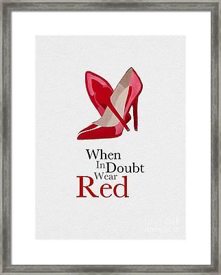 Wear Red Framed Print by Rebecca Jenkins