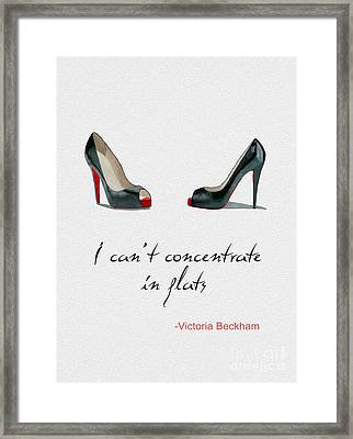 Wear The Right Shoes Framed Print by Rebecca Jenkins