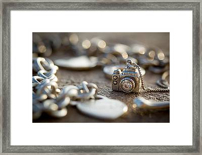 Wear Your Camera Framed Print by April Reppucci