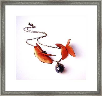 Wearable Art . Never Ending Love . One Of A Kind Necklace Framed Print by Marianna Mills