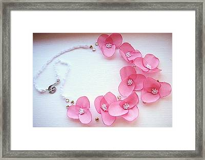 Wearable Art . One Of A Kind Statement Necklace Framed Print by Marianna Mills
