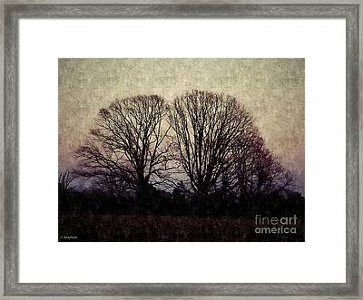 Weary Winter Framed Print by Christy Ricafrente