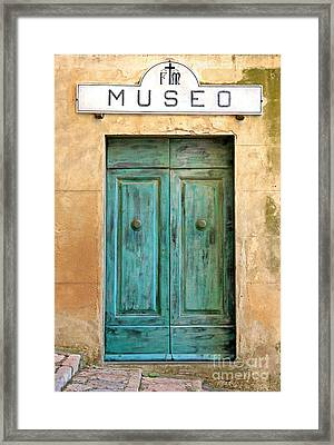 Weathed Museo Door Framed Print