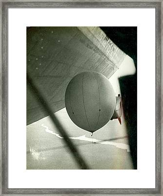 Weather Balloon Launch From Graf Zeppelin Framed Print by Us Coast Guard