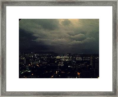 Weather Coming Framed Print by Peter  Menner