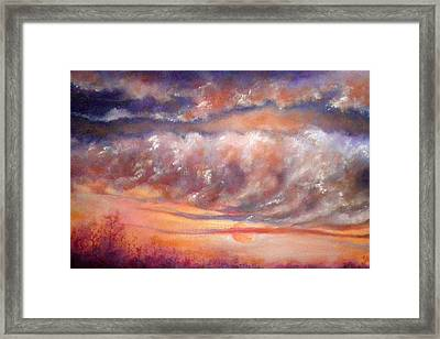 Weather Is Changing Framed Print by Marianne Stokes