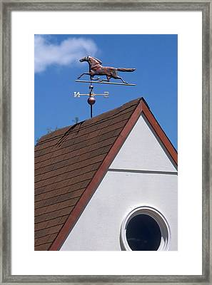 Weather Vane Framed Print by Del Mulkey