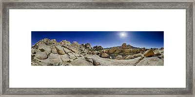 Weather Worn Rock Bowl Framed Print by Scott Campbell