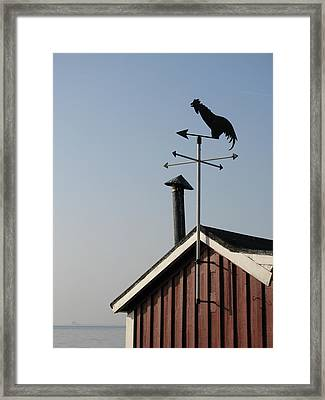 Weathercock Malmo Europe Framed Print