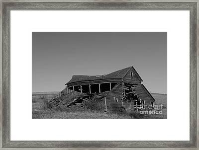 Weatherd Barn Framed Print by Yumi Johnson