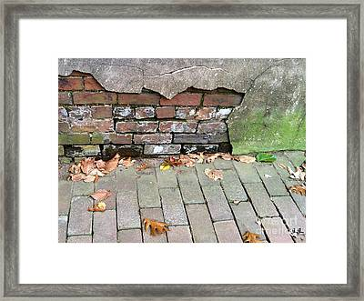Framed Print featuring the photograph Weathered Abstract by Geri Glavis