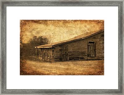Weathered And Old Framed Print