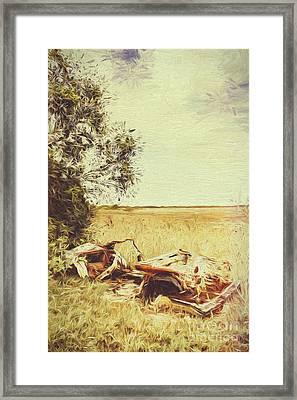 Weathered Australian Automobilia Framed Print