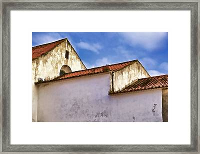Weathered Barn Of Medieval Europe Framed Print by David Letts