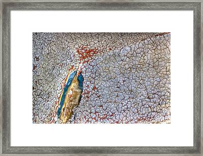 Weathered Boat - Abstract Framed Print by Heidi Smith