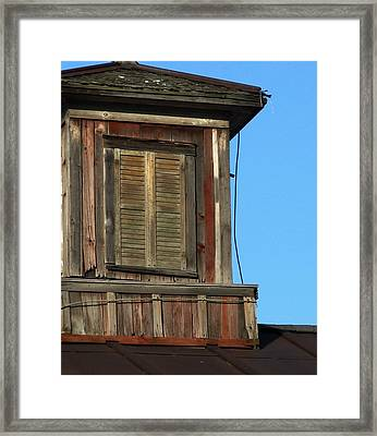 Weathered Cupola Framed Print by Debbie Finley